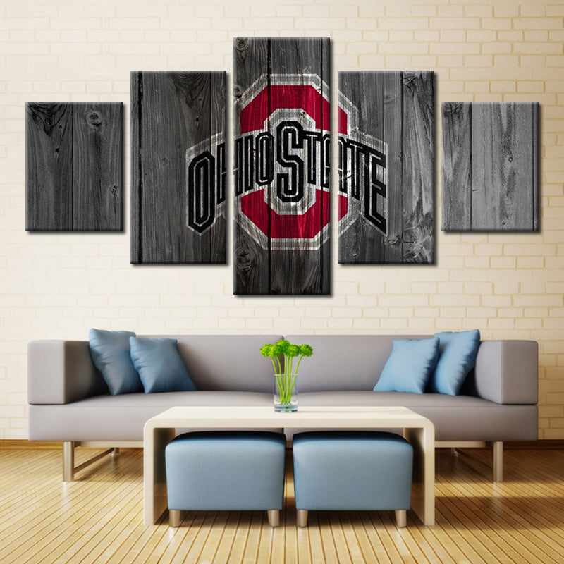 Ohio State Buckeyes Football American Wall Art Canvas Home Decor Man ...