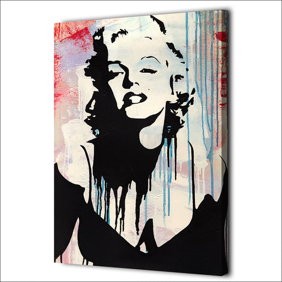 1 Piece Canvas Art Marilyn Monroe Abstract print pop art Wall Picture - ASH Wall Decor - Wall Art Canvas Panel Print Painting