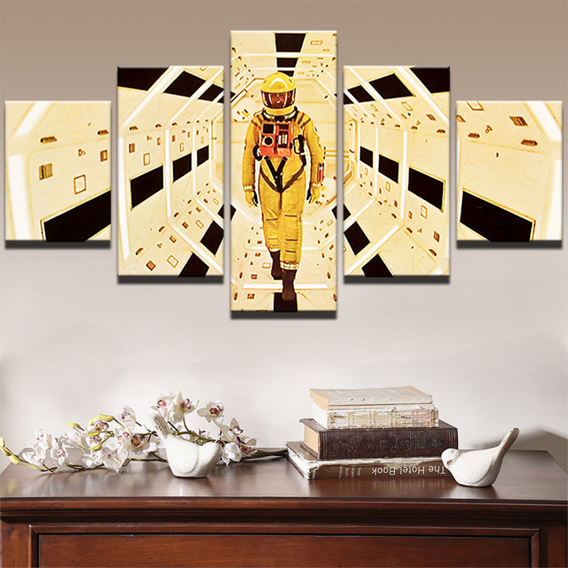 5 Panel A Space Odyssey Movie Character Modern Wall Art Print - ASH ...