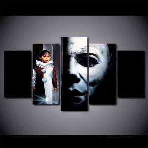 5 Piece Canvas Wall Art Halloween 5 The Revenge Of Michael Myers Wall Picture - ASH Wall Decor - Wall Art Canvas Panel Print Painting