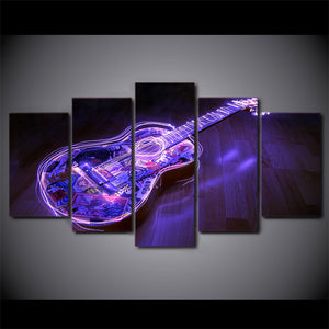 5 piece picture canvas abstract music guitar artwork wall picture panel print : cheap canvas prints wall paintings pictures
