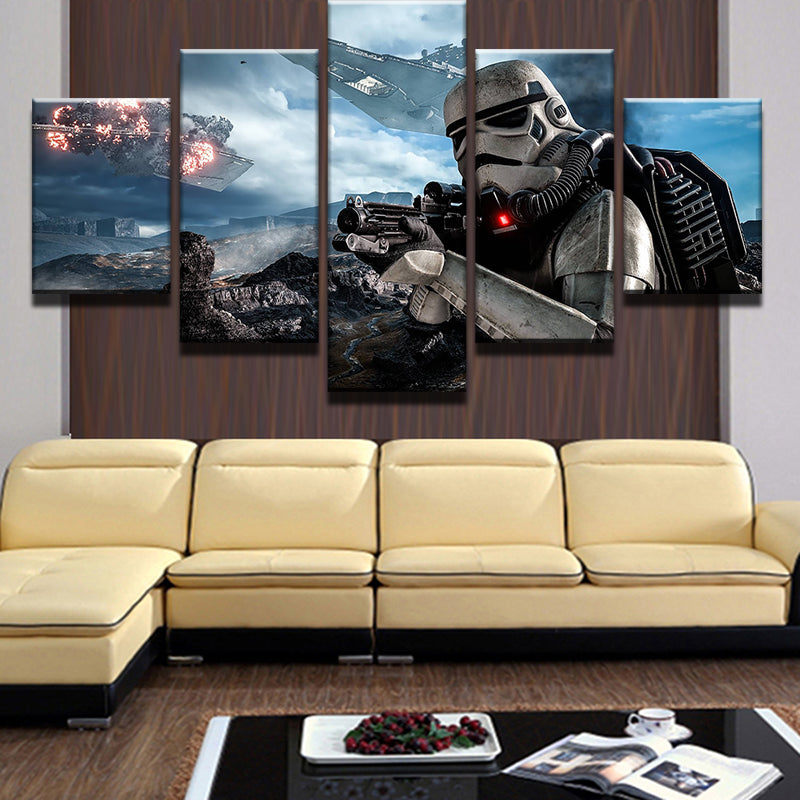 Star Wars Stormtrooper Canvas Panel Wall Art Picture Print Framed ...