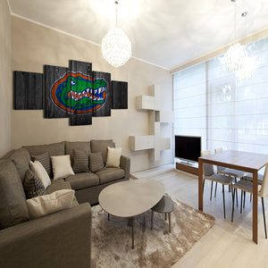 Florida Gators College Football 5 panel Wall Art on Canvas Print : cheap canvas prints wall paintings pictures