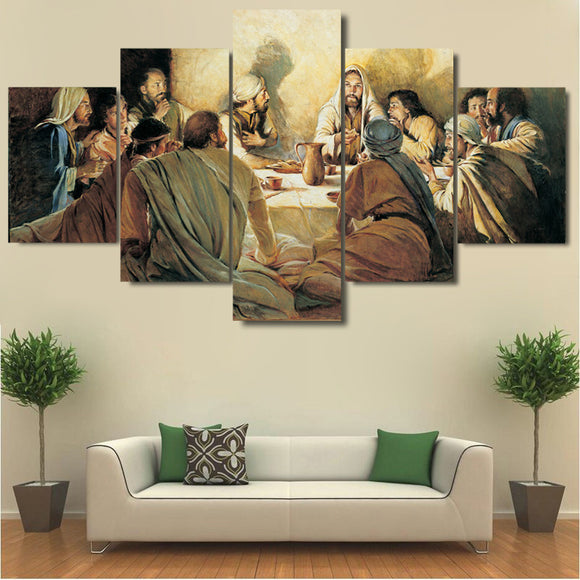 Last Supper Painting Decor Canvas Wall Art Picture For Home Wall Decor Living Room - ASH Wall Decor - Wall Art Canvas Panel Print Painting