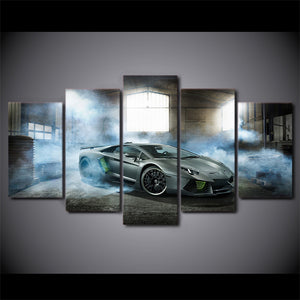 5 Pieces Lamborghini Exotic Auto Car Panel Canvas Wall Art Picture Poster