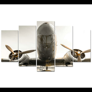 Prop Airplane  Aircraft Wall Art on Canvas 5 Panel Print : cheap canvas prints wall paintings pictures