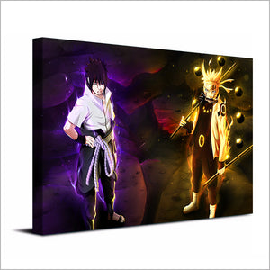 1 piece panel canvas print Naruto and Sasuke HD anime poster print canvas