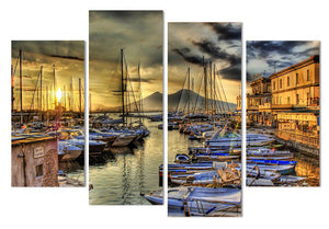 Naples Italy Wharf Boats Home Wall Decor Wall Art Panel Print Picture Framed UNF : cheap canvas prints wall paintings pictures