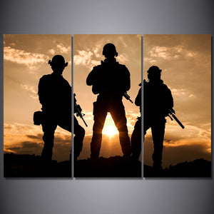 National Guard soldier military poster painting canvas panel print for room