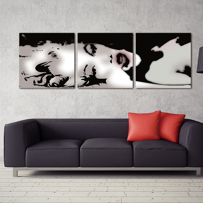 In Stock Sexy Marilyn Monroe Art Black White Abstract Canvas Print