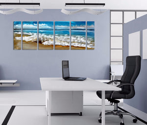 Beach Ocean Seascape Metal Aluminum Wall Art Canvas Panel Print Picture : cheap canvas prints wall paintings pictures