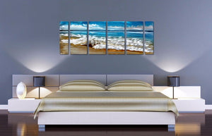 Beach Ocean Seascape Metal Aluminum Wall Art Canvas Panel Print Picture - ASH Wall Decor - Wall Art Canvas Panel Print Painting