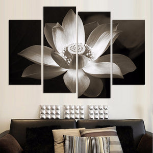 4 Panel Beautiful Flower Floral Canvas Panel Wall Picture Print For Room : cheap canvas prints wall paintings pictures