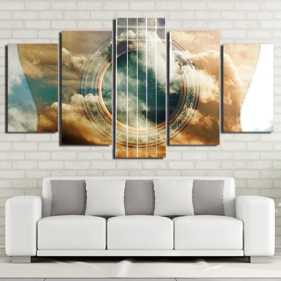 Abstract Guitar Canvas Print Wall Picture on Canvas - ASH Wall Decor - Wall Art Picture Painting Canvas Living Room