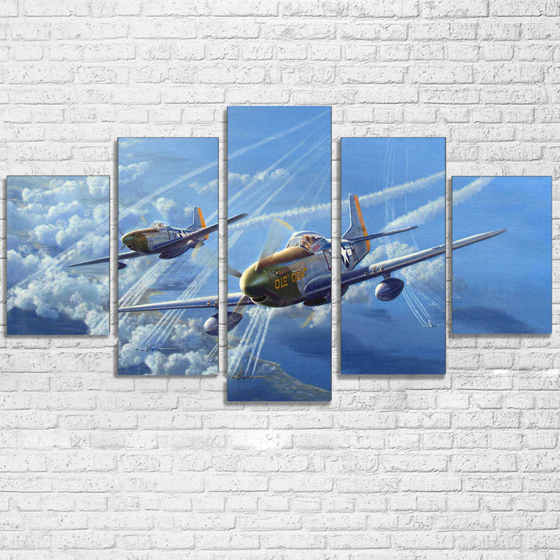 Military Airplane Aircraft Vintage Plane Canvas Print Framed ...