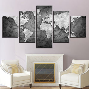 World Map Currency Money Wall Art Panel Print on Canvas Home Wall Decor : cheap canvas prints wall paintings pictures