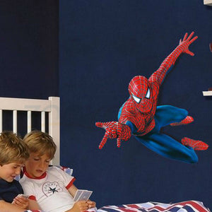 3d Spiderman wall stickers for kids rooms pvc wall decal for Children Boys Kids room Superman Super Hero : cheap canvas prints wall paintings pictures