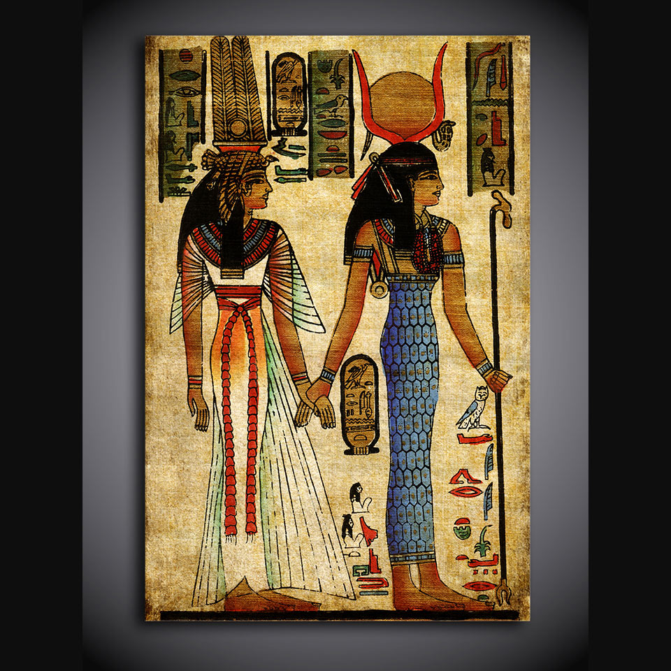 Egypt Egyptian Artwork Wall Art On Canvas Print Framed UNframed   ASH Wall  Decor   Wall