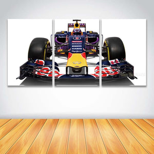3 Panel Canvas Art Print Formula F1 Race Car Red Bull Wall Art Framed UNframed : cheap canvas prints wall paintings pictures
