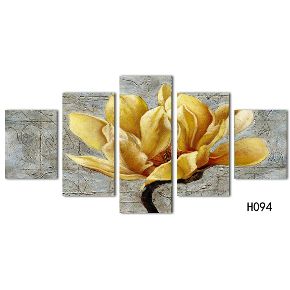 Beautiful Gold Orchid Flower Print Wall Art Canvas Decor For Living ...