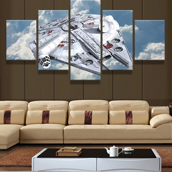 Star Wars Millennium Falcon Canvas Panel Wall Art Print Poster Living Room