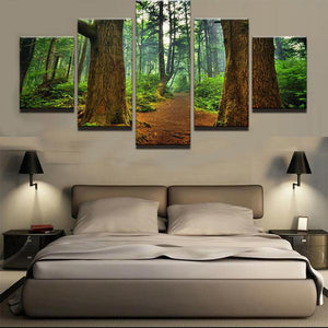 Forest Trees Path Wall Art Canvas Panel Print For Living Room Home Wall Art : cheap canvas prints wall paintings pictures