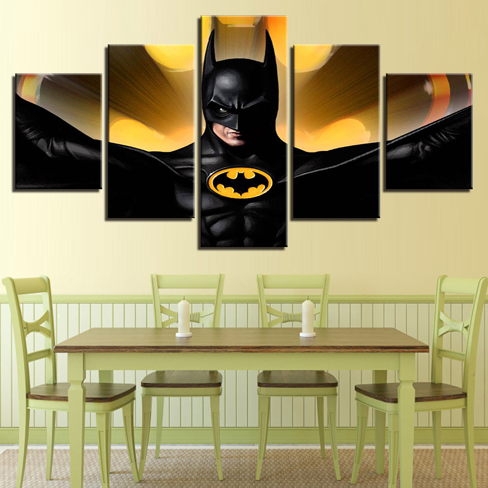 Batman Movie 5 panel wall art on canvas framed unframed home picture ...
