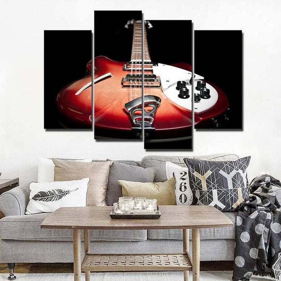 Vintage guitar music instrument painting poster Home Decor wall picture - ASH Wall Decor - Wall Art Picture Painting Canvas Living Room