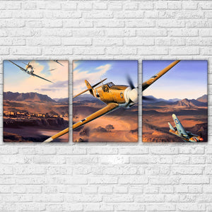 Wall Art HD Print Military Airplane Poster 3 Panel Jet Aircraft Vintage Plane : cheap canvas prints wall paintings pictures
