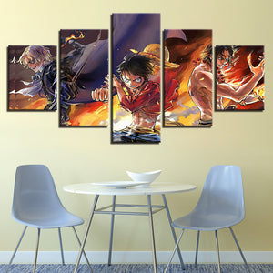 5 Pieces Cartoon Canvas Panel Print HD Prints Anime Characters Wall Art Picture : cheap canvas prints wall paintings pictures