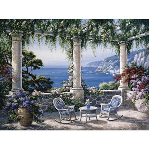 Mediterranean Terrace landscape wall art on canvas modern home decor : cheap canvas prints wall paintings pictures