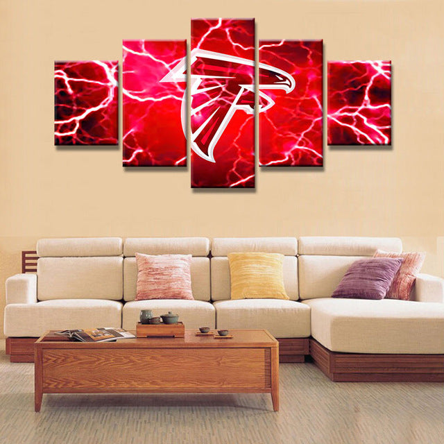 HD Print Canvas Painting Home Decorative 5 Panel Rugby Sport Modular  Picture Wall Art Prints Panels