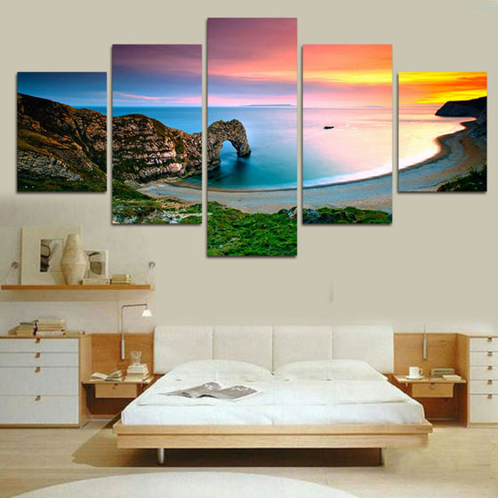 Famous Landscape Mediterranean Sea Wall Art on Canvas Framed Unframed - ASH Wall Decor - Wall Art Canvas Panel Print Painting