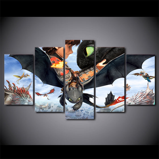 How to Train Your Dragon Wall Art Canvas Panel Print Picture Poster Kids Room