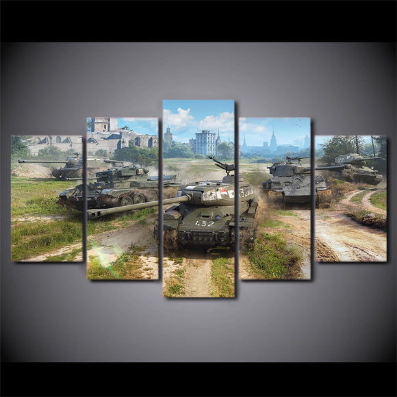 World of Tanks Video Game Canvas Wall Art Panel Print Poster