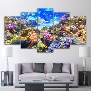 Underwater Ocean Coral Reef Color Fish Tank Wall Art Picture Framed UNframed : cheap canvas prints wall paintings pictures