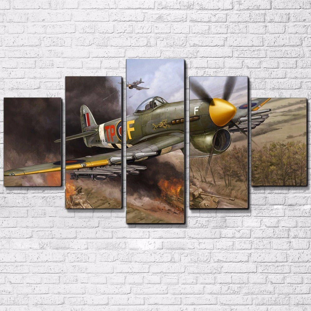 Vintage Plane Wall Decor : Military airplane aircraft vintage plane wall art on