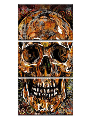 Modern 3 Piece Panel Skull Head Abstract Wall Canvas Print Picture : cheap canvas prints wall paintings pictures