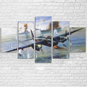 Military Fighter Bomber Aircraft Vintage Plane Paintings HD Print Poster Picture : cheap canvas prints wall paintings pictures