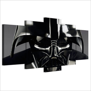 Star Wars Darth Vader Helmet Panel Wall Art Print on Canvas Framed Unframed : cheap canvas prints wall paintings pictures