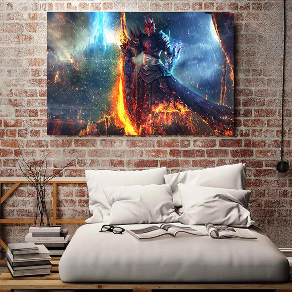 1 Piece Canvas Art Print Warrior Sword Demon Hunter HD Printed Home Wall Decor