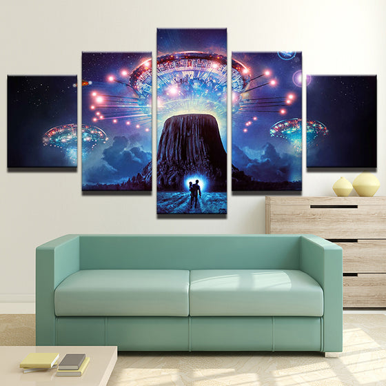 5 Panel Movie Fighter  Abstract Wall Art Canvas Panel Print Poster