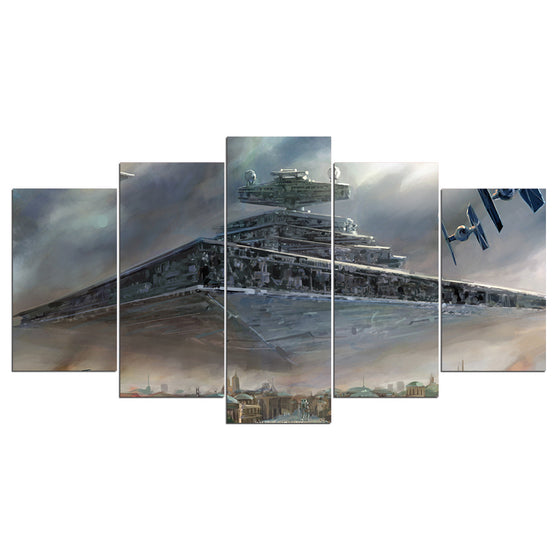 Star Wars Imperial Star Destroyer 5 Piece Panel Print Poster Picture Wall Art