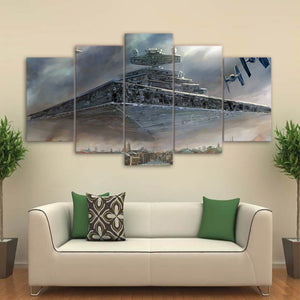 Star Wars Imperial Star Destroyer 5 Piece Panel Print Poster Picture Wall Art : cheap canvas prints wall paintings pictures