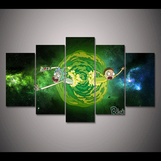 Rick And Morty Canvas Panel Wall Art on Canvas for Living Room Framed UNframed