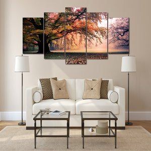 Autumn Tree Forest Canvas Panel Wall Art Print Poster Picture for Living Room : cheap canvas prints wall paintings pictures