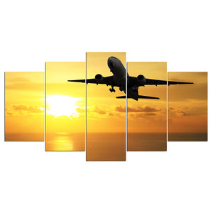 Jet Airplane at Sunset Wall Picture for Living Room Home Wall Decor : cheap canvas prints wall paintings pictures