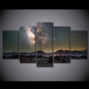 Galaxy Night Stars Starry Sky Modern Wall Canvas Panel Picture for Living Room : cheap canvas prints wall paintings pictures