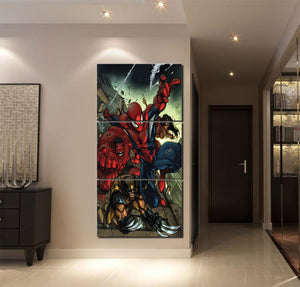 3 Piece Comics SpiderMan Canvas HD Print Posters Oil Painting Modern Wall Art : cheap canvas prints wall paintings pictures