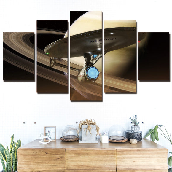 Star Trek  5 Panel Wall Art on Canvas Print Poster